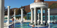 Новый открытый термальный бассейн «Водного мира» на термальном курорте Афродита Раецке Теплице